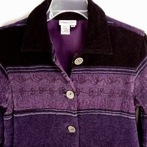 Coldwater Creek Jackets & Coats - S/M Petite Coldwater Creek Purple Jacket